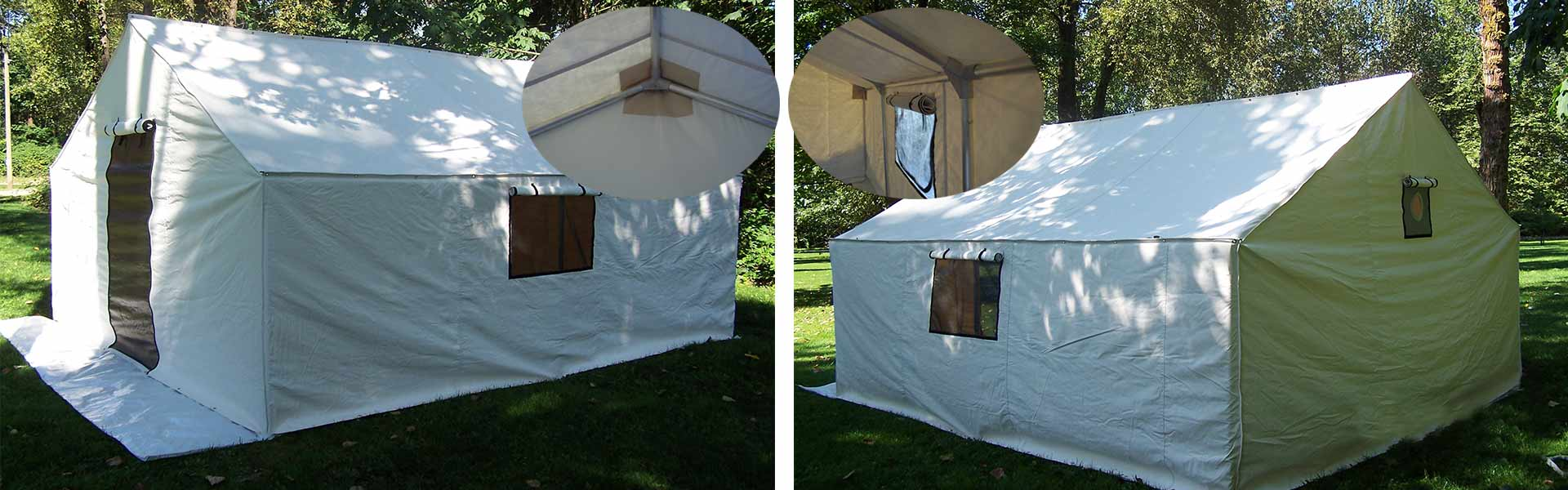 Exploration Tents designs builds and sells wall tents that are precisely what the inidual customer needs : deluxe wall tents - memphite.com